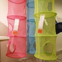 Ikea Mesh Hanging Storage with 6 Compartments, Pink