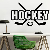 Hockey Wall Decal Sport Wall Decals Putter Washer Vinyl Stickers Teens Nursery Baby Room Home Decor Art Bedroom Design Interior C510