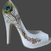 Crystal Peacock Heel