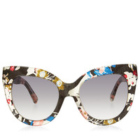 LINDA FARROW X ERDEMMulti Colour Floral Acetate Sunglasses