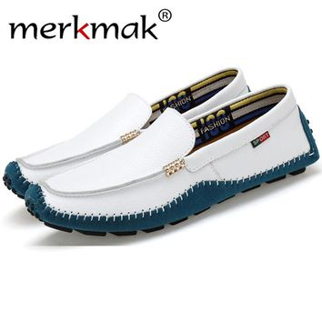 Merkmak Newly Men Loafers Shoes 2017 Fashion Casual Brand Design Slip On Men Moccasins Breathable Flats Shoes Zapatos Hombres