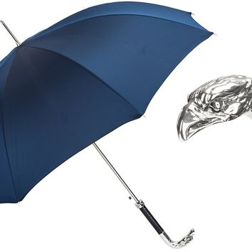 Pasotti Navy Umbrella with Silver Eagle