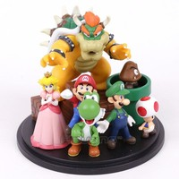 Super Mario party nes switch  Bros Bowser Princess Peach Yoshi Luigi Toad Goomba PVC Action Figure Toy Model AT_80_8