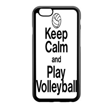 Keep Calm Play On Volleyball iPhone 6 Case