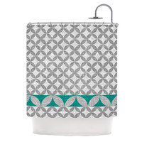 """Nick Atkinson """"Diamond Turquoise"""" Shower Curtain, 69"""" x 70"""" - Outlet Item"""
