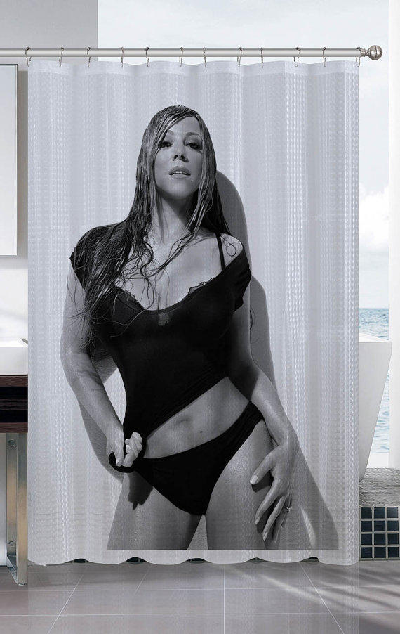 Mariah Carey Sexy Shower Curtain From Proliman On Etsy