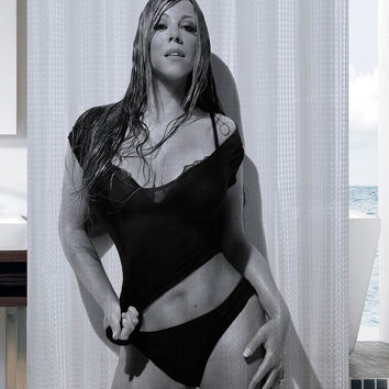 Mariah Carey Sexy shower curtain