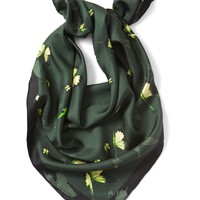 Butterfly Large Square Silk Scarf|banana-republic