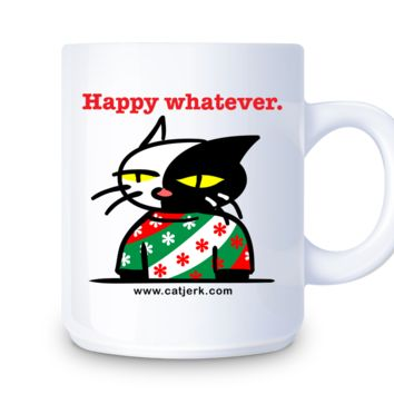 """Happy Whatever."" Ceramic Mug 11oz. white 