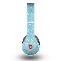 The Light Blue Blossum Twigs Skin for the Beats by Dre Original Solo-Solo HD Headphones