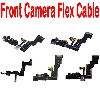 "100% New For iphone 4 4S 5 5S 5C 6 6S Plus 4.7"" 5.5"" Small Front Face Camera Flex Cable With Microphone"