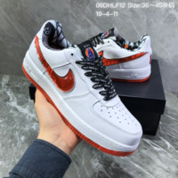 HCXX N1442 Nike Air Force 1 af1 The high school league Casual Skate Shoes White Red