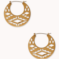 Worldly Cutout Midsize Hoops