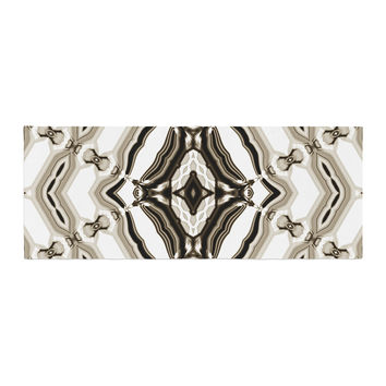 "Dawid Roc ""Inspired By Psychedelic Art 6"" Brown Pattern Bed Runner"
