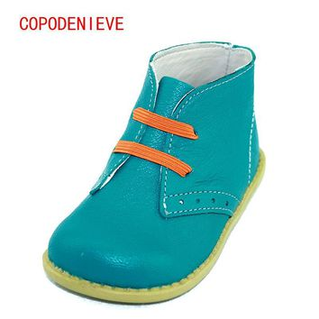 COPODENIEVE Chaussures enfants boys girls snow fashion Martin boots single low short botas kids baby nina boys autumn shoeS