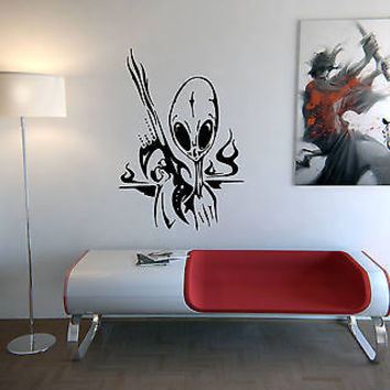 ALIEN CUTE DESIGN WALL VINYL STICKER  DECALS ART MURAL G161