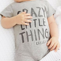 Baby Crazy Little Thing Grey Romper