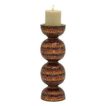 Adorable Metal Mosaic Candle Holder