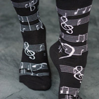 Sock Dreams » Socks » Anklets » Music Notes Crews