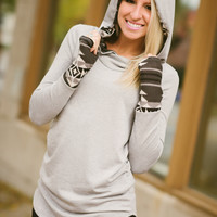 Play On Patterns Hoodie (Heather Grey) - Piace Boutique