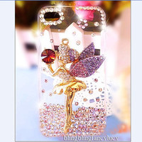 iphone 4 case, iphone 5 case, iphone 4s case, 3D iPhone 5 case, Cute iphone 4 case, bling iphone 5 case, Angel crystal iphone 4 bling case