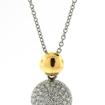 Women's Bony Levy Diamond Pendant Necklace - White Gold/ Yellow Gold (Nordstrom Exclusive)