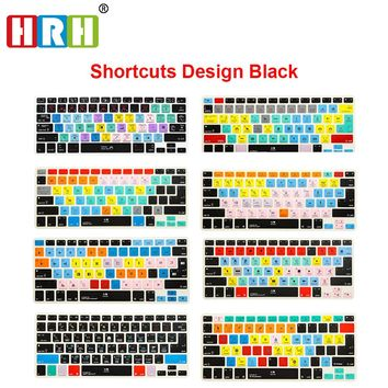 Shortcut Keyboard Cover Skin For Macbook Pro Air Retina 13 15 17 All Macs Before 2016