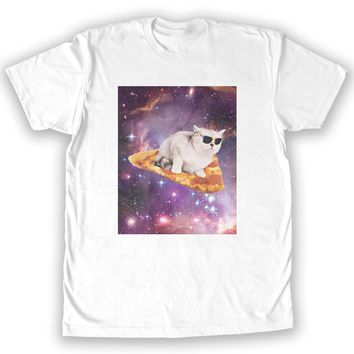 Function - Pizza Galaxy Cat Surfing Men's Fashion T-Shirt