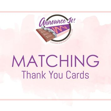 Matching Thank You Cards - Digital