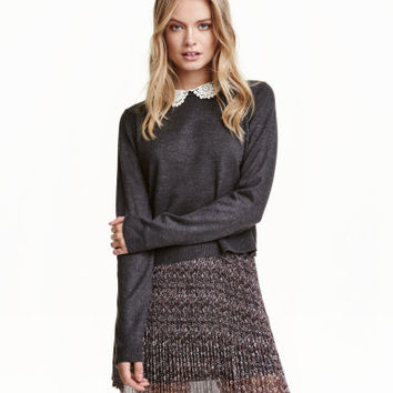 H&M Sweater with Lace Collar $29.99