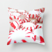 Pillow Cover - Peppermint Swirl, Photo Pillow, candy, Home Decor, Living Room, Throw Pillow, Christmas Pillow, Holiday 16x16, 18x18, 20x20