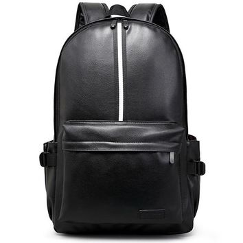 High Quality Casual Backpacks For Men Designer Famous Brands School Backpack For Student's Leather Backpack Black Mochila Y37