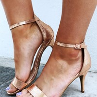 Special Occasion Heels: Rose Gold