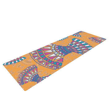 "Miranda Mol ""Tribal Fun Orange"" Abstract Tangerine Yoga Mat"