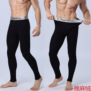 Hot! Winter Men Thick Warm Pants Men's Cotton Brushed Warm Pants Thermal Underwear Men Leggins Long Johns 126