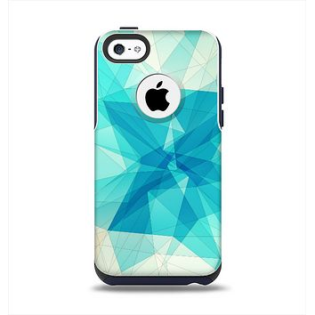 The Vector Abstract Shaped Blue Overlay V2 Apple iPhone 5c Otterbox Commuter Case Skin Set