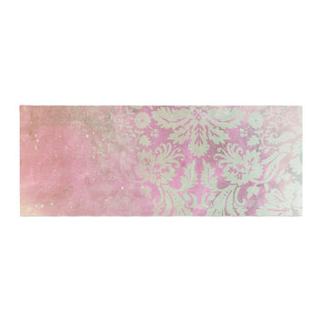"Cafelab ""Spring Damask "" Pink White Bed Runner"