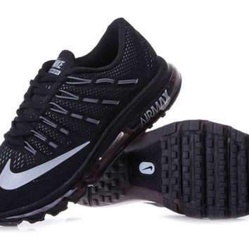 """NIKE"" Trending Fashion Casual Sports Shoes AirMax Toe Cap hook section knited Black White hook"