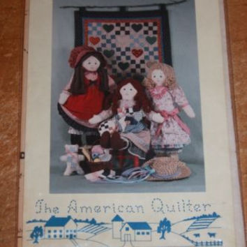 Quilters At Heart Rag Doll And Quilt Pattern