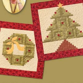 Quilt in a Day, Eleanor Burns, Signature Pattern, Holiday Wreath and Tree