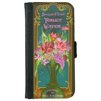 Vintage French perfume wallet phone case