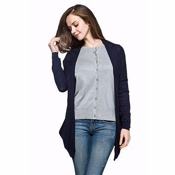 Spring Summer Autumn Loose Long Cotton Women  Long Sleeve Sun Protection air conditioning Sweater Cardigan