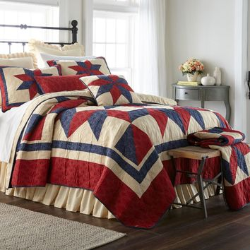 Donna Sharp Gatlinburg Star Quilted Country Cotton Full/Queen-King Bedroom Sets