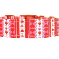 Valentine's Day Dog Collar: Lace Hearts - All Products