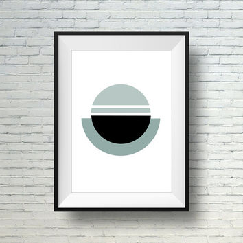 Geometric Print, Modern Art Print, Minimalist Design, Abstract Circle Art Wall Print