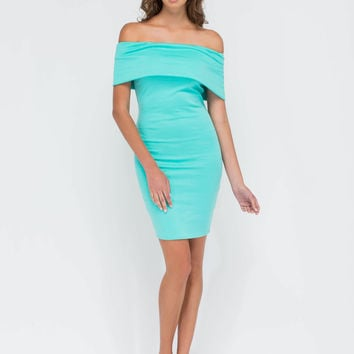 Bold Move Off-Shoulder Bodycon Dress