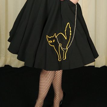 Halloween Black Cat Skirt