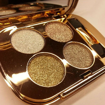 4 Colors Bright Glittery Metallic Eyeshadow Palette