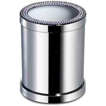 ShineLight Round Toothbrush Holder W/ Swarovski Crystals