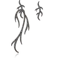Federica Tosi Blackened Stearling Sliver Twings Earring